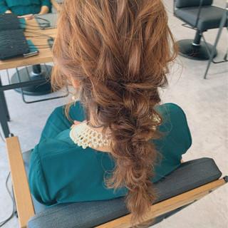 ヘアアレンジ デート セミロング ナチュラル ヘアスタイルや髪型の写真・画像