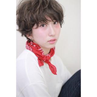 ストリート 外国人風 マッシュ パーマ ヘアスタイルや髪型の写真・画像