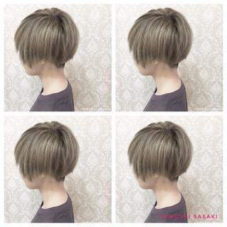 ショート ストリート オリーブアッシュ 派手髪 ヘアスタイルや髪型の写真・画像