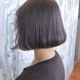 ナチュラル ラベンダーアッシュ ラベンダー グレージュ ヘアスタイルや髪型の写真・画像