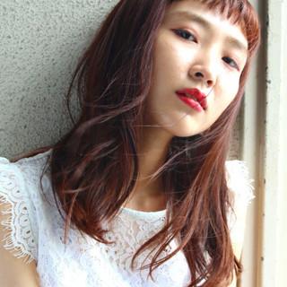 ベリーピンク ガーリー グレージュ ピンク ヘアスタイルや髪型の写真・画像