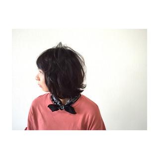 フェミニン パーマ 暗髪 ガーリー ヘアスタイルや髪型の写真・画像