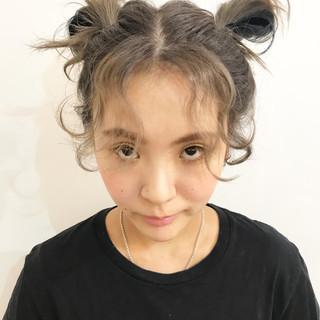 ミディアム 外国人風カラー ストリート インナーカラー ヘアスタイルや髪型の写真・画像