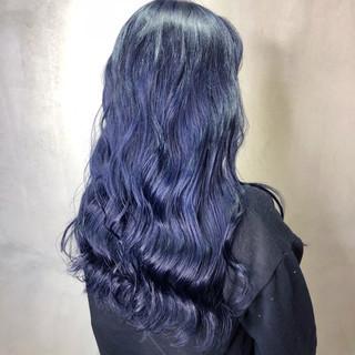 ストリート デニム ネイビーブルー ネイビー ヘアスタイルや髪型の写真・画像