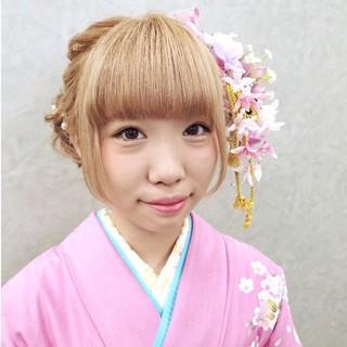 ヘアアレンジ ミディアム ツインテール ガーリー ヘアスタイルや髪型の写真・画像