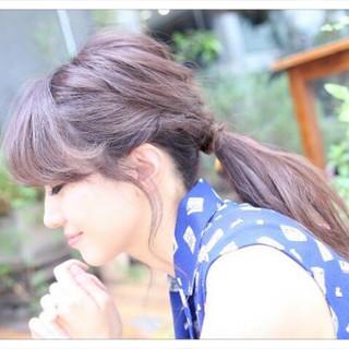 簡単 ポニーテール ロング 編み込み ヘアスタイルや髪型の写真・画像 ヘアスタイルや髪型の写真・画像