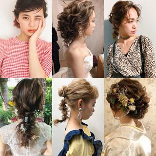 結婚式ヘアアレンジ おしゃれさんと繋がりたい 結婚式髪型 大人かわいい ヘアスタイルや髪型の写真・画像