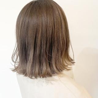 バレイヤージュ 大人かわいい 外国人風カラー フェミニン ヘアスタイルや髪型の写真・画像