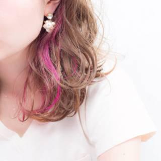 ウェットヘア ゆるふわ ナチュラル レッド ヘアスタイルや髪型の写真・画像