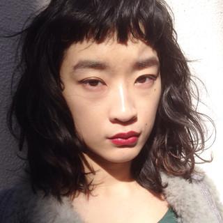 簡単ヘアアレンジ 愛され ストリート パーマ ヘアスタイルや髪型の写真・画像