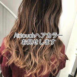 バレイヤージュ イルミナカラー 外国人風カラー グラデーションカラー ヘアスタイルや髪型の写真・画像