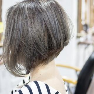 小顔 大人かわいい フェミニン 前下がり ヘアスタイルや髪型の写真・画像