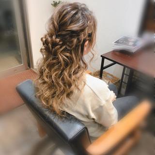 編み込みヘア 結婚式 編み込み ヘアセット ヘアスタイルや髪型の写真・画像