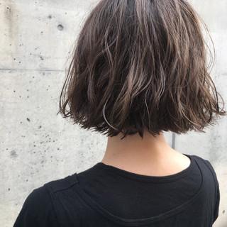 透明感 抜け感 ボブ ロブ ヘアスタイルや髪型の写真・画像