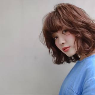 外国人風 シースルーバング ミディアム ストリート ヘアスタイルや髪型の写真・画像