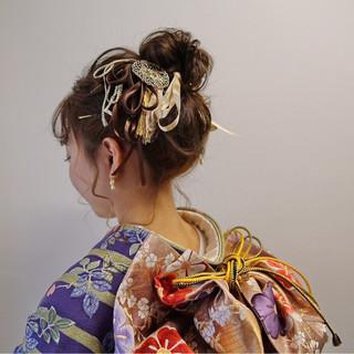 ヘアアレンジ 結婚式 ガーリー 成人式 ヘアスタイルや髪型の写真・画像