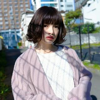 透明感 大人かわいい ナチュラル 暗髪 ヘアスタイルや髪型の写真・画像