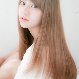 ピュア 大人かわいい パーマ ロング ヘアスタイルや髪型の写真・画像