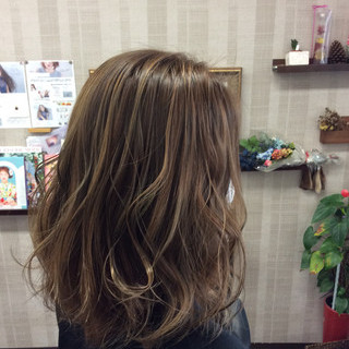 ダブルカラー 外国人風カラー グラデーションカラー ミディアム ヘアスタイルや髪型の写真・画像