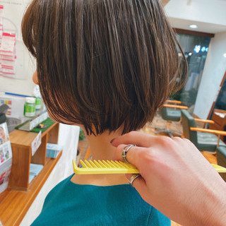 ナチュラル ショート ショートボブ ショートヘア ヘアスタイルや髪型の写真・画像