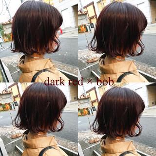 オレンジ レッド ストリート アプリコットオレンジ ヘアスタイルや髪型の写真・画像
