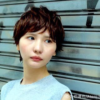 ストリート レイヤーカット ショート 外国人風 ヘアスタイルや髪型の写真・画像