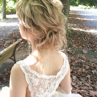 フェミニン 大人女子 パーティ セミロング ヘアスタイルや髪型の写真・画像
