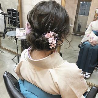 セミロング ナチュラル ギブソンタック ヘアアレンジ ヘアスタイルや髪型の写真・画像 ヘアスタイルや髪型の写真・画像