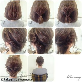 ツイスト 簡単ヘアアレンジ ボブ 大人かわいい ヘアスタイルや髪型の写真・画像 ヘアスタイルや髪型の写真・画像