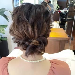 大人かわいい 結婚式 ヘアアレンジ 簡単ヘアアレンジ ヘアスタイルや髪型の写真・画像