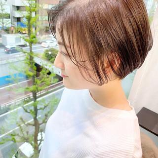 デート ショートヘア ショート ゆるふわ ヘアスタイルや髪型の写真・画像