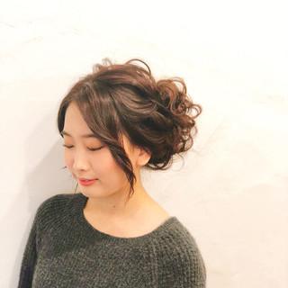 結婚式 エレガント アップスタイル セミロング ヘアスタイルや髪型の写真・画像