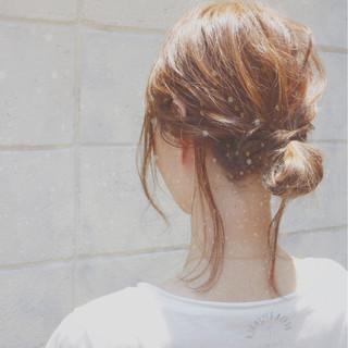 簡単ヘアアレンジ リラックス ミディアム 外国人風 ヘアスタイルや髪型の写真・画像