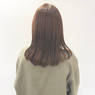 ストリート セミロング 愛され 透明感カラー ヘアスタイルや髪型の写真・画像