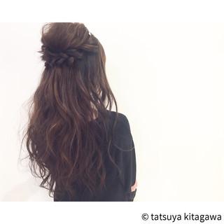 エレガント ロング ヘアアレンジ ゆるふわ ヘアスタイルや髪型の写真・画像 ヘアスタイルや髪型の写真・画像