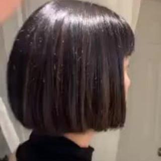 切りっぱなしボブ グラデーションカラー ボブ ナチュラル ヘアスタイルや髪型の写真・画像