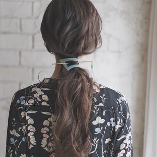 簡単ヘアアレンジ セミロング 結婚式 女子会 ヘアスタイルや髪型の写真・画像