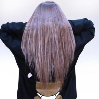 外国人風 ピンク フェミニン ロング ヘアスタイルや髪型の写真・画像