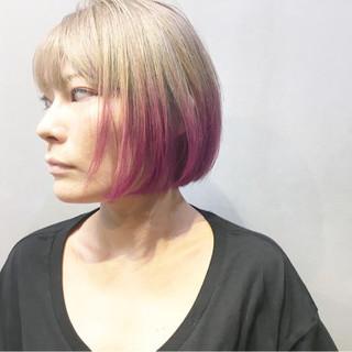 ベリーピンク ストリート アッシュベージュ ミントアッシュ ヘアスタイルや髪型の写真・画像