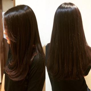 ロング ストレート 黒髪 ナチュラル ヘアスタイルや髪型の写真・画像
