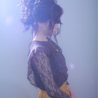 ゆるふわ ヘアアレンジ ガーリー 外国人風カラー ヘアスタイルや髪型の写真・画像