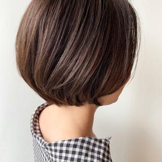 オフィス ショート ショートヘア 丸みショート ヘアスタイルや髪型の写真・画像