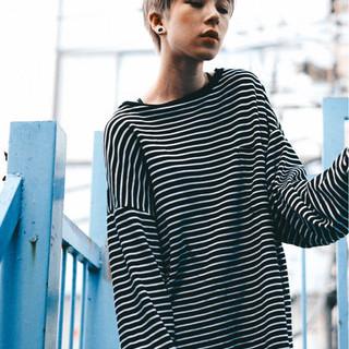 小顔 外国人風カラー 似合わせ ベリーショート ヘアスタイルや髪型の写真・画像