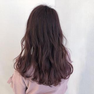 セミロング 簡単ヘアアレンジ ピンクラベンダー ピンクベージュ ヘアスタイルや髪型の写真・画像