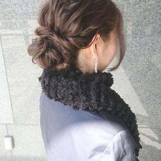 ミディアム ショート ナチュラル ヘアアレンジ ヘアスタイルや髪型の写真・画像