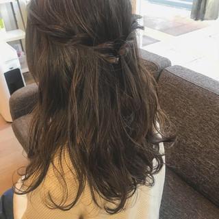 ロング デート ガーリー 三つ編み ヘアスタイルや髪型の写真・画像