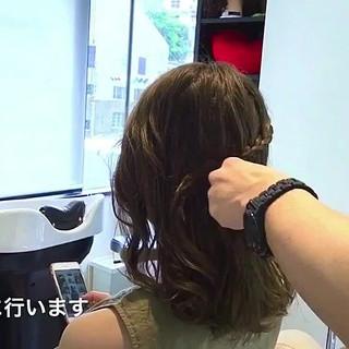 編み込み ナチュラル 女子会 ヘアアレンジ ヘアスタイルや髪型の写真・画像