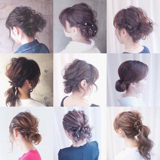 ショート 編み込み ミディアム 簡単ヘアアレンジ ヘアスタイルや髪型の写真・画像