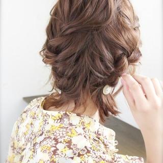 ショート 外国人風 夏 ハーフアップ ヘアスタイルや髪型の写真・画像