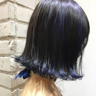 黒髪 モード ボブ グレージュ ヘアスタイルや髪型の写真・画像